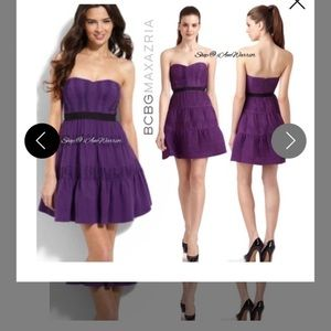 BCBGMaxazria deep purple dress mint condition